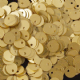Final Clearance Value Pack 6mm Satin Gold (Matt) Flat Round (Hole on edge) Sequins x 50g